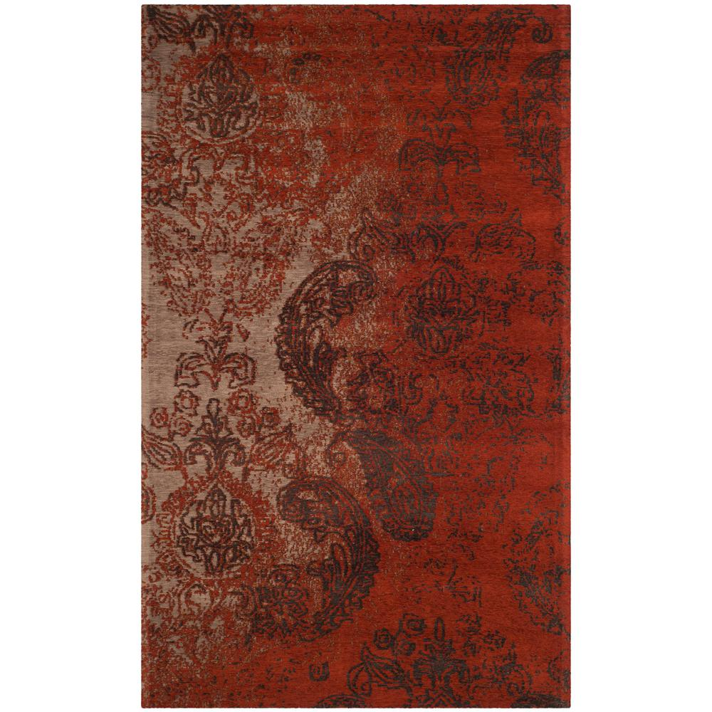 Safavieh Classic Vintage Rust Brown 5 Ft X 8 Ft Area Rug Clv222a 5