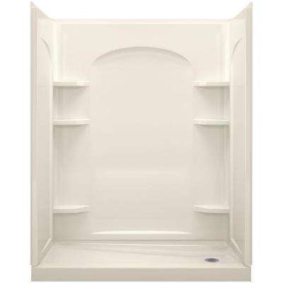 Ensemble 1-1/4 in. x 30 in. x 72-1/2 in. 2-piece Tongue and Groove Shower Endwall in Biscuit