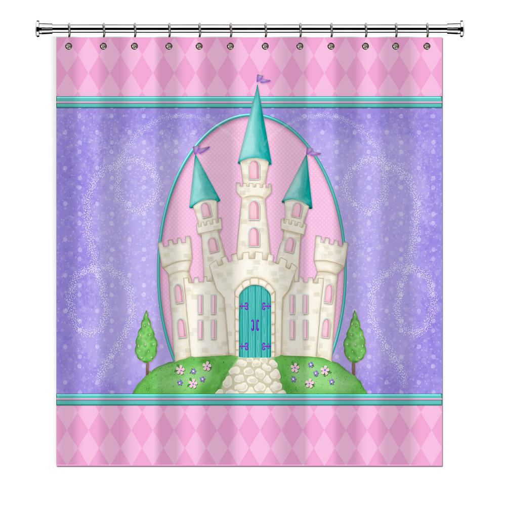 Princess Camryn 72 In Multicolored Shower Curtain