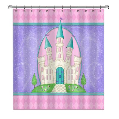 Princess Camryn 72 in. Multicolored Shower Curtain