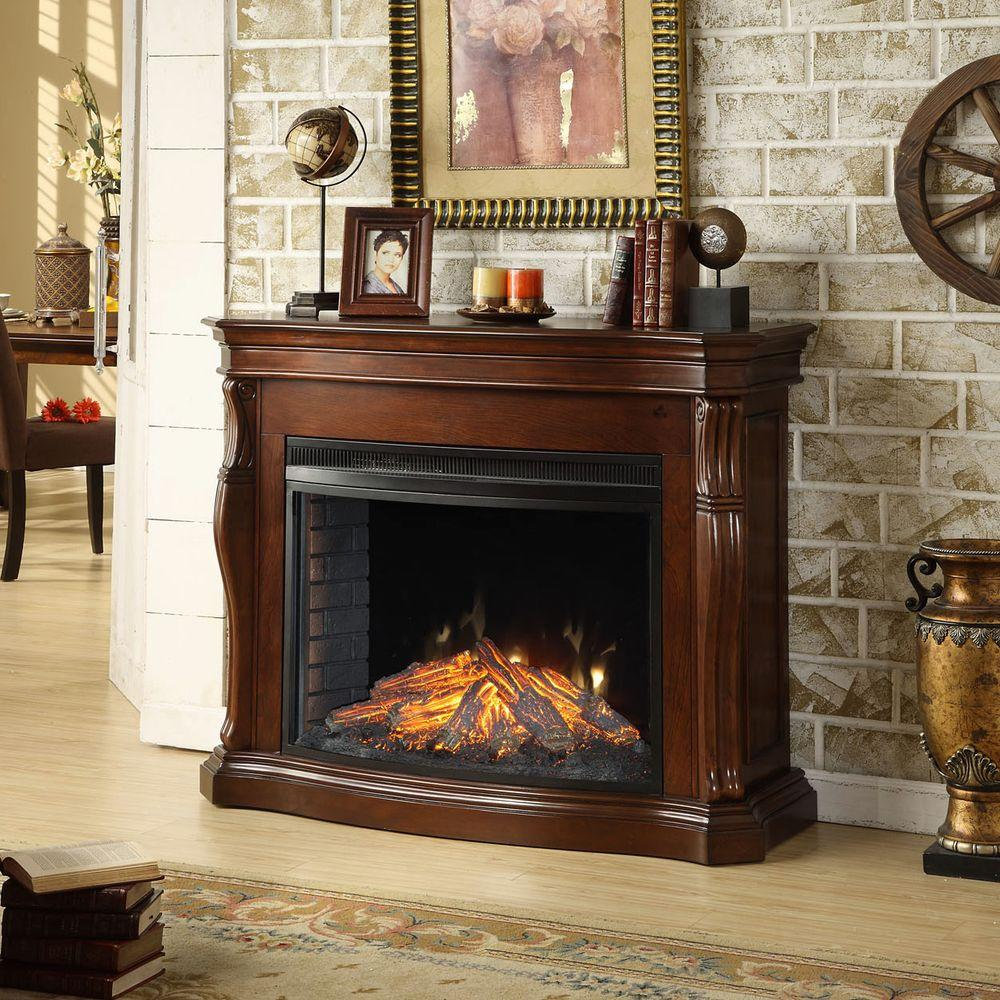 Muskoka Tuscan 50 in. Electric Fireplace in Burnished Cherry-DISCONTINUED
