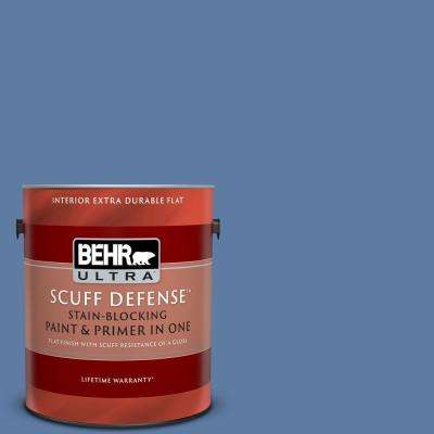 1 gal. #600D-6 Blueberry Patch Extra Durable Flat Interior Paint and Primer in One