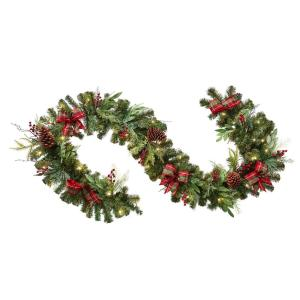 9 ft. Battery-Operated Pre-Lit LED Artificial Christmas Garland