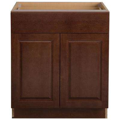 Benton Assembled 30x34.5x24.6 in. Base Cabinet with Soft Close Full Extension Drawer in Amber