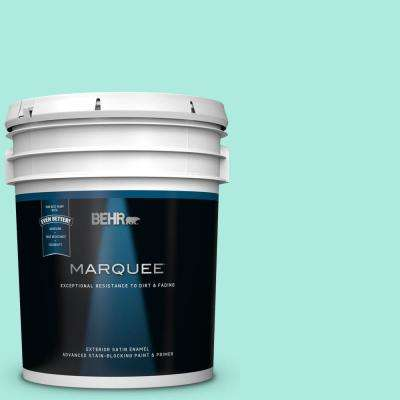 5 gal. #MQ4-23 Aloha Satin Enamel Exterior Paint and Primer in One