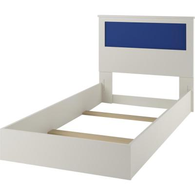 Jewel Twin Bed with Reversible Headboard in White, Blue and Pink