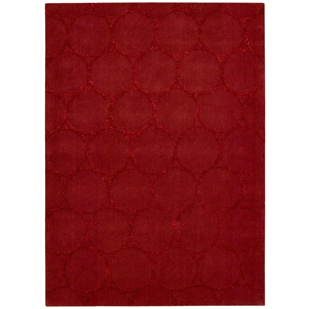 Nourison Overstock Monterey Red 5 ft. 3 in. x 7 ft. 4 in. Area Rug