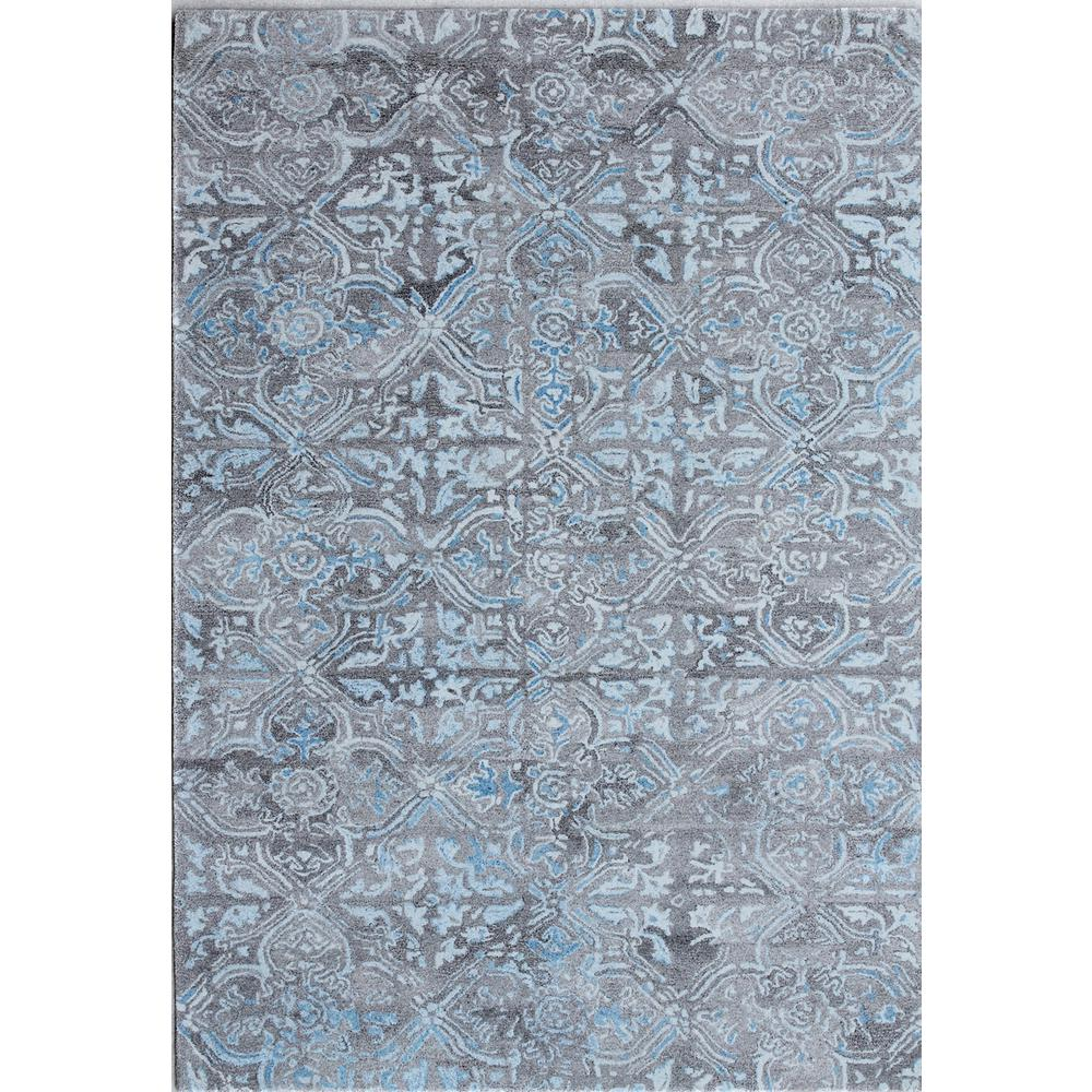 dynamic rugs posh abstract grey blue 2 ft x 4 ft area rug po247815950 the home depot. Black Bedroom Furniture Sets. Home Design Ideas