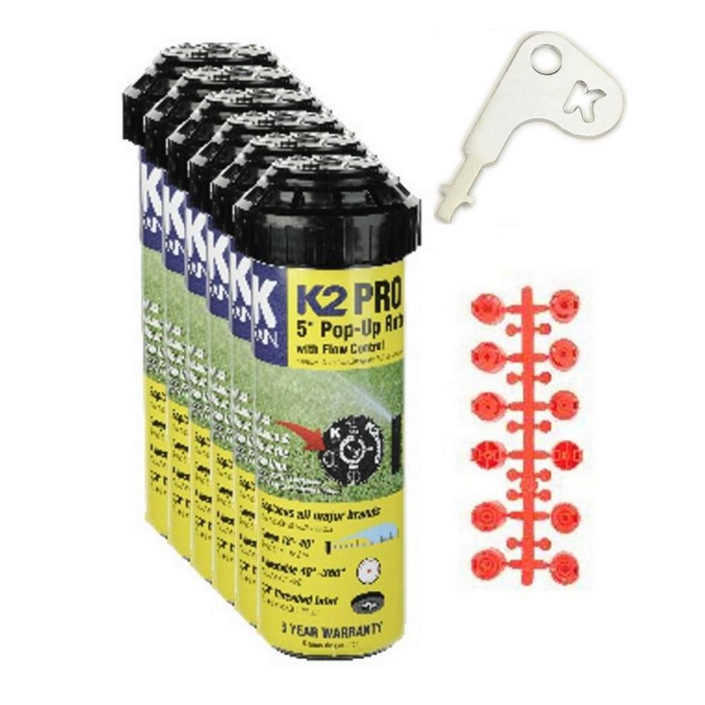 K-Rain K-Rain 5 in. K2 Pro Gear Drive Sprinkler (6-Pack), Blacks