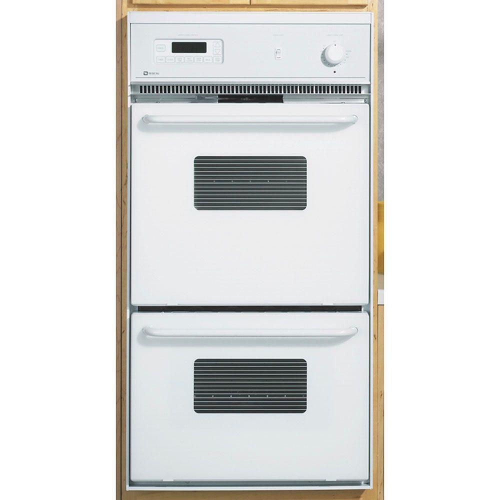 Maytag 24 in. Double Electric Wall Oven Self-Cleaning in White