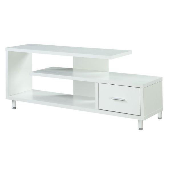 Seal II White 60 in. TV Stand