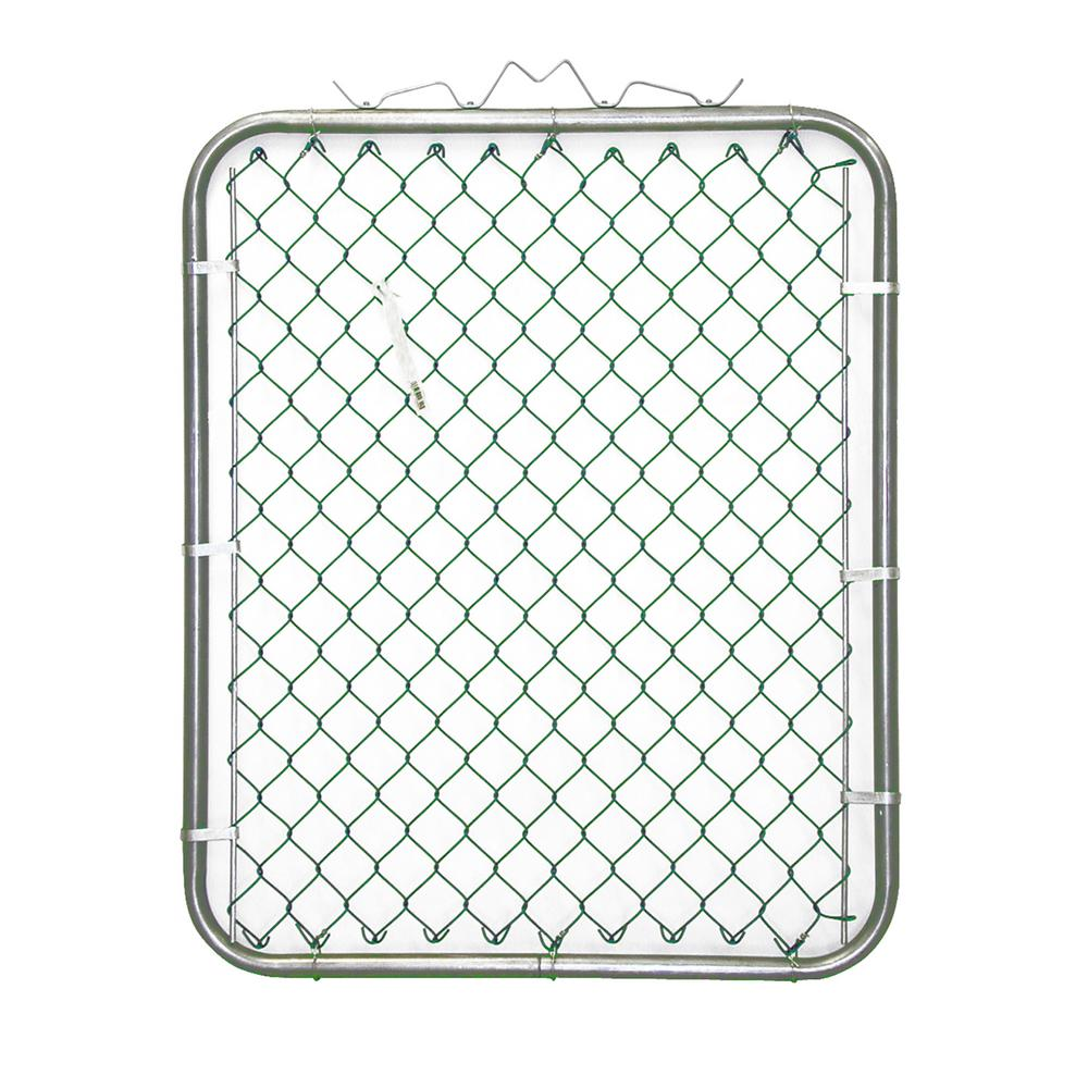 38 in. W x 48 in. H Green PVC Coated Steel
