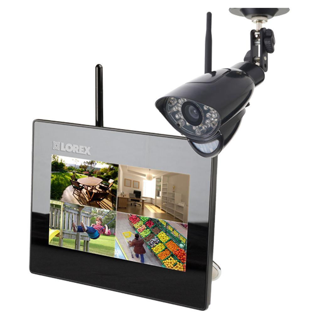 Lorex 4 CH 2GB SD Card Wireless Surveillance System with (1) 480 TVL Camera with 7 in. Monitor and Remote Viewing-DISCONTINUED