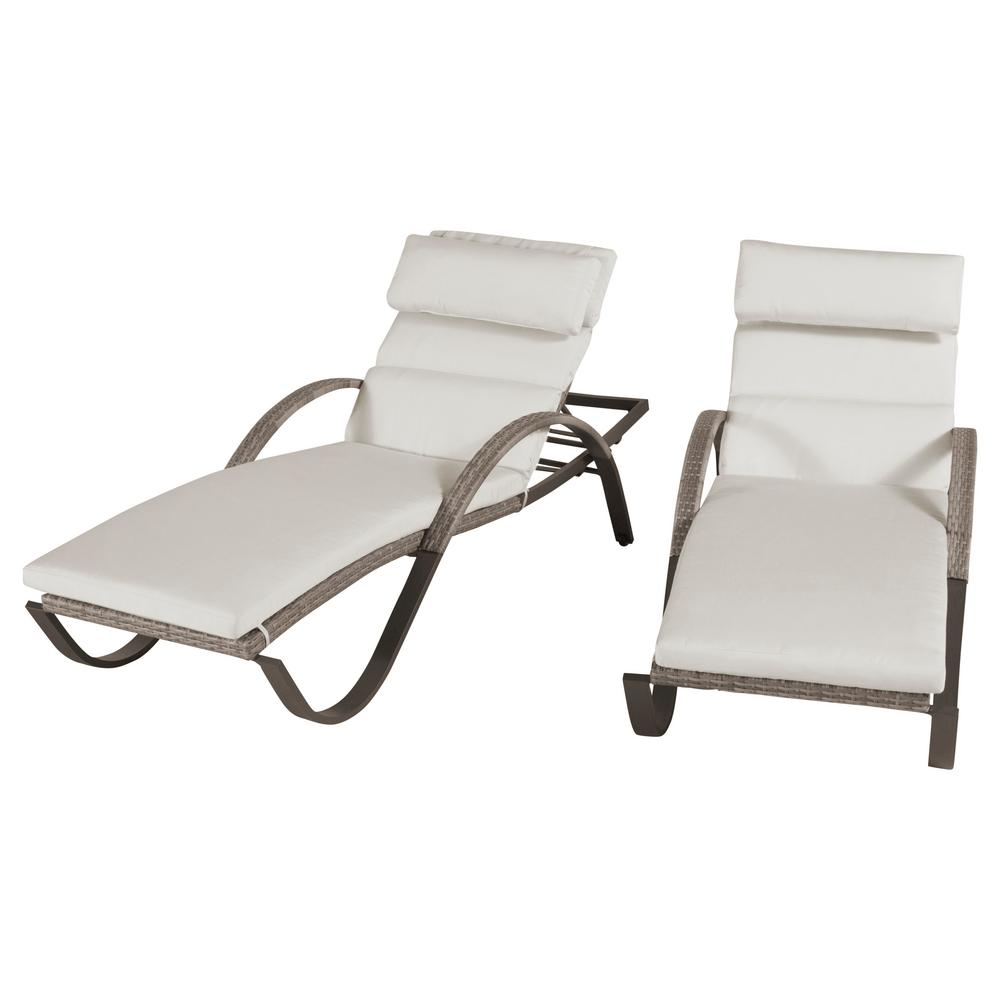 Cannes Moroccan Cream Patio Chaise Lounges (Set of 2)
