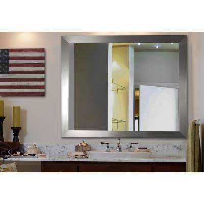 40 in. x 30 in. Silver Wide Non Beveled Vanity Wall Mirror