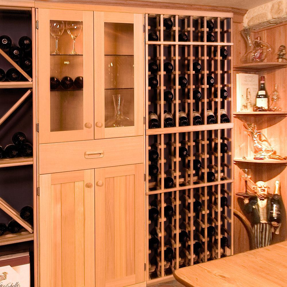 102-Bottle Pine Floor Wine Rack