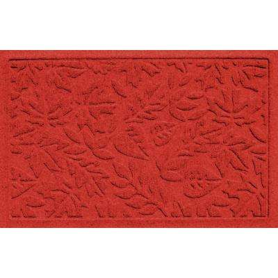 Aqua Shield Fall Day Red 17.5 in. x 26.5 in. Door Mat
