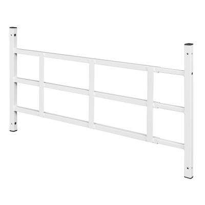 16 in., White, Carbon Steel, Fixed 3-Bar Window Grill