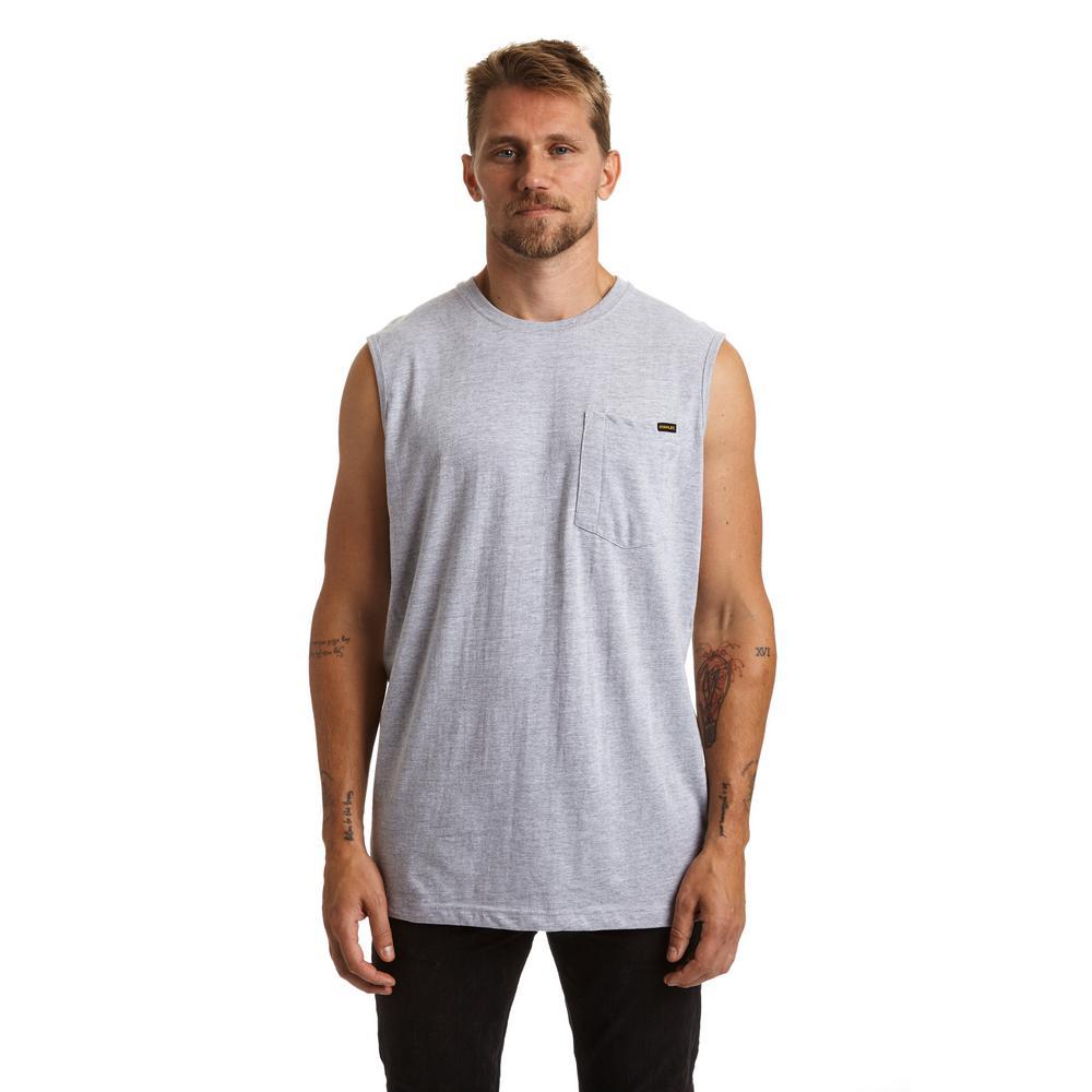 Stanley Men's X-Large Heather Grey Sleeveless T-Shirt, Si...