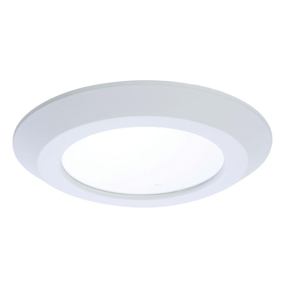 Recessed Lighting Thick Ceiling : Globe electric in white recessed shower light fixture