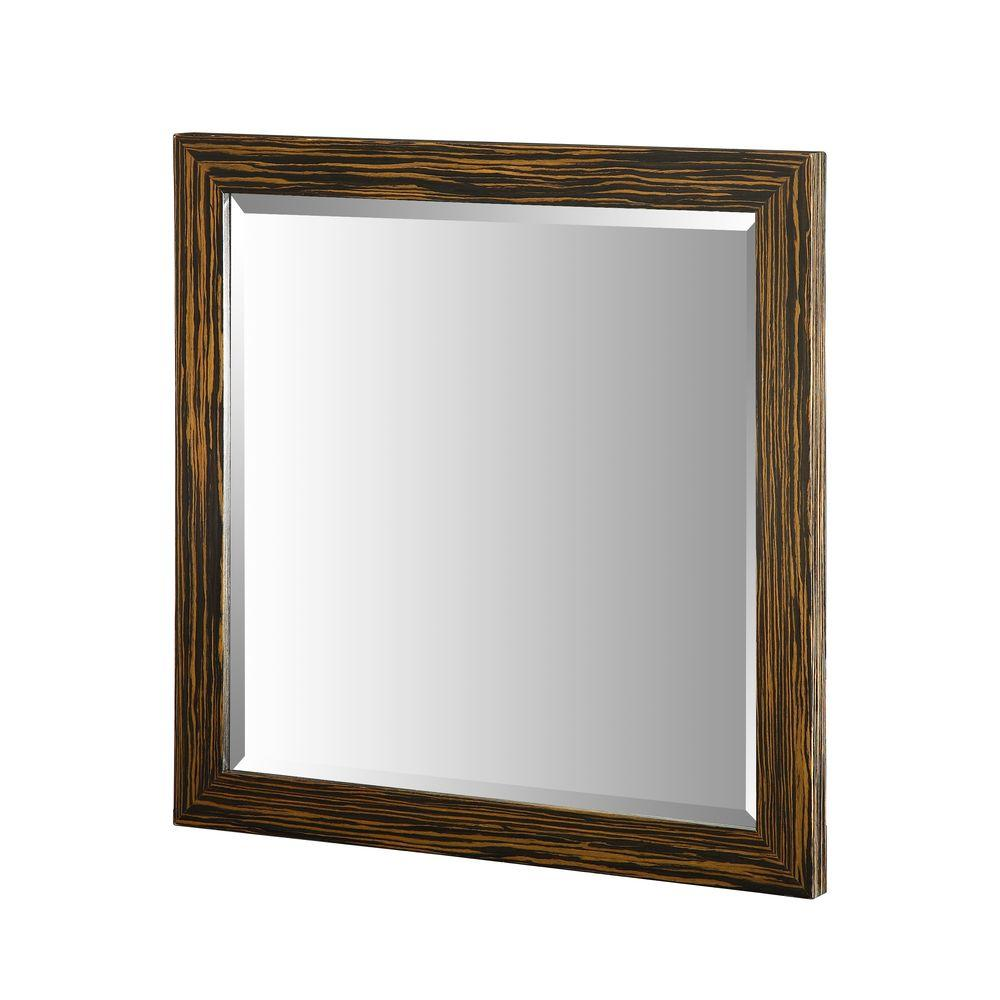 Hembry Creek Essence 30 in. W x 30 in. L Wall Mirror in Striped Ebony