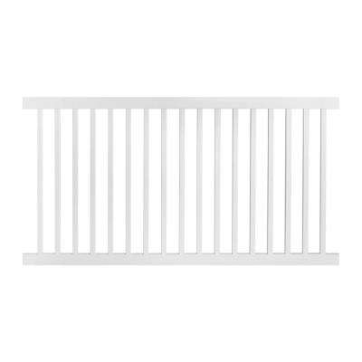 Neptune 4 ft. H x 6 ft. W White Vinyl Pool Fence Panel