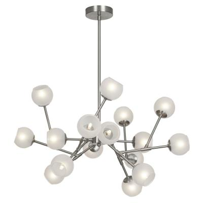 16-Light Satin Chrome Chandelier
