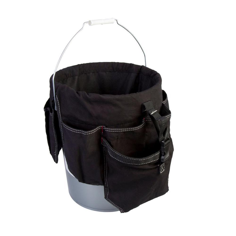 12 in. 12-Pocket Bucket Organizer in Black