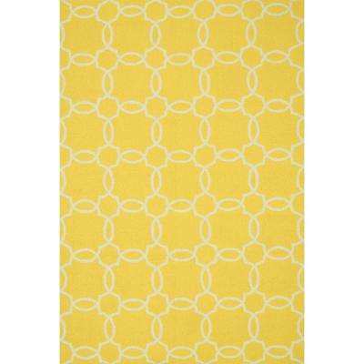 Ventura Lifestyle Collection Yellow/Ivory 2 ft. 3 in. x 3 ft. 9 in. Area Rug