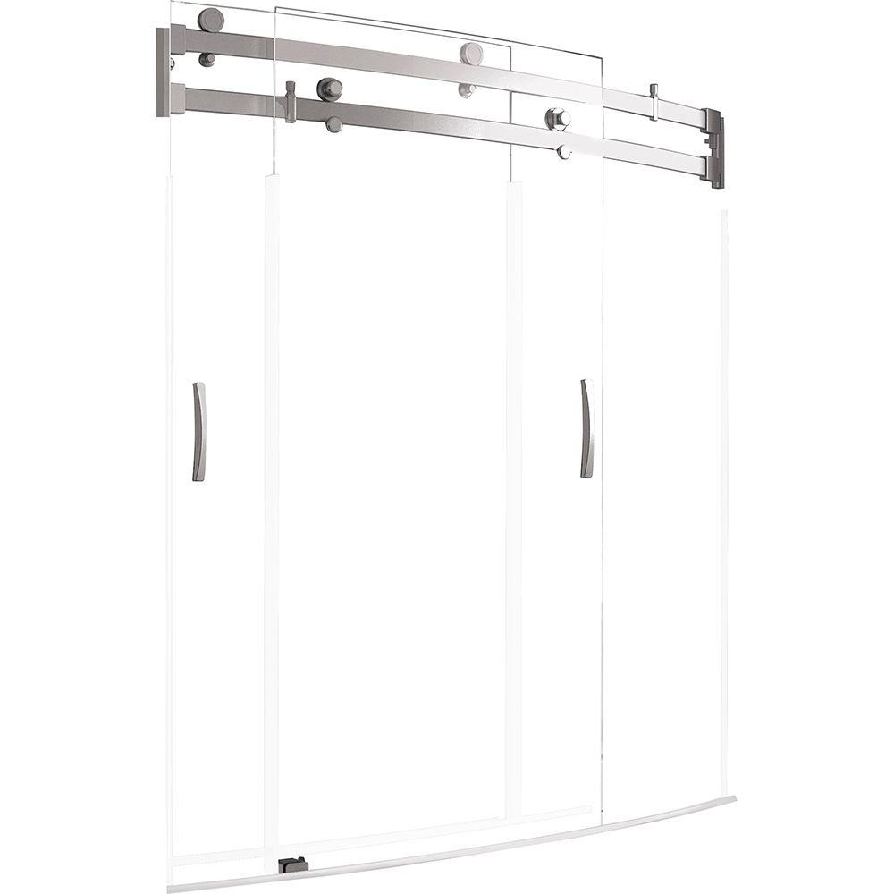 Delta Classic 400 Curve 60 In X 62 In Frameless Sliding Tub Door