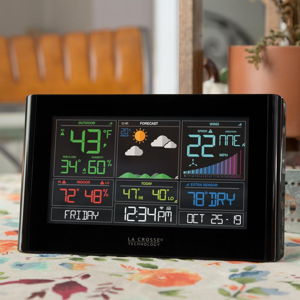 La Crosse Wireless Remote Titanium Weather Station Inside Outside Temperature