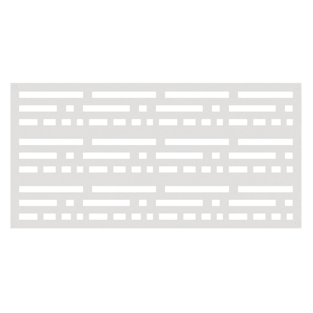 TuffBilt Morse 4 ft. x 2 ft. White Polymer Decorative Screen Panel