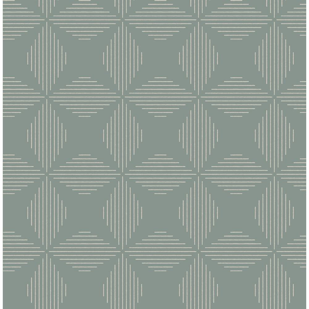 A-Street Telestar Teal Geometric Wallpaper 2902-25511