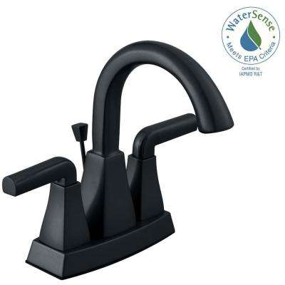 Brookglen 4 in. Centerset 2-Handle High-Arc Bathroom Faucet in Oil Rubbed Bronze
