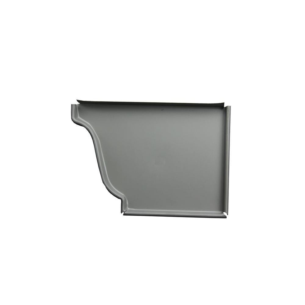 5 in. Dove Gray Aluminum Right End Cap