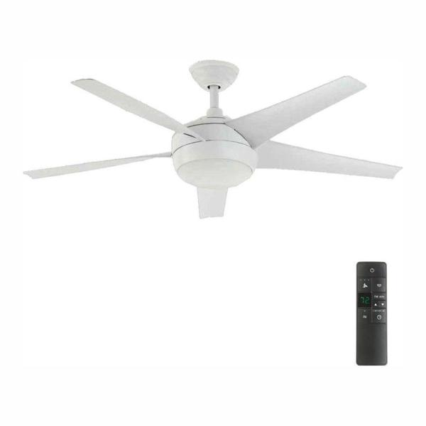 Home Decorators Collection Windward Iv 52 In Led Indoor Matte White Ceiling Fan With Light Kit And Remote Control 26662 The Home Depot