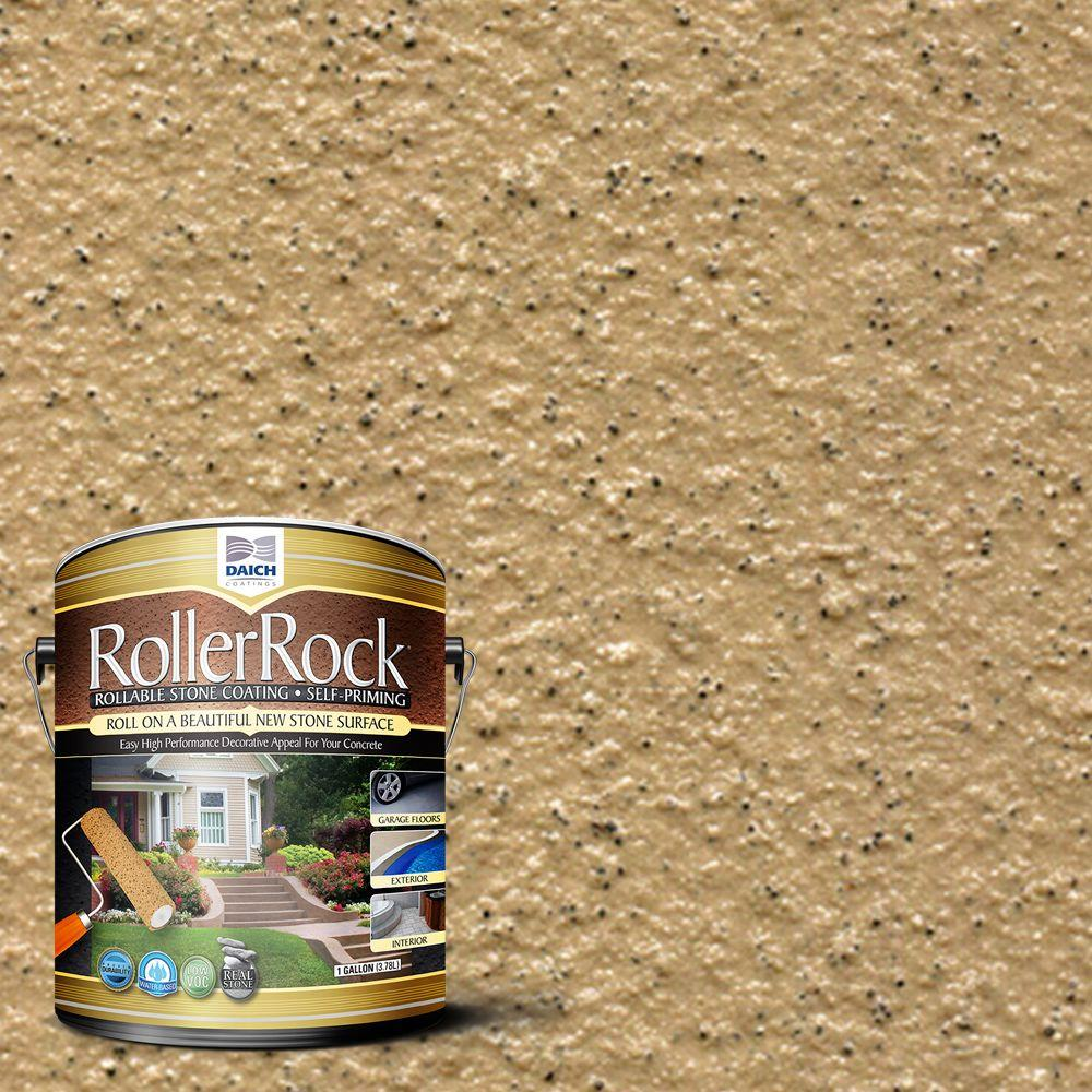 DAICH RollerRock 5 gal. Self-Priming Harvest Tan Exterior Concrete ...