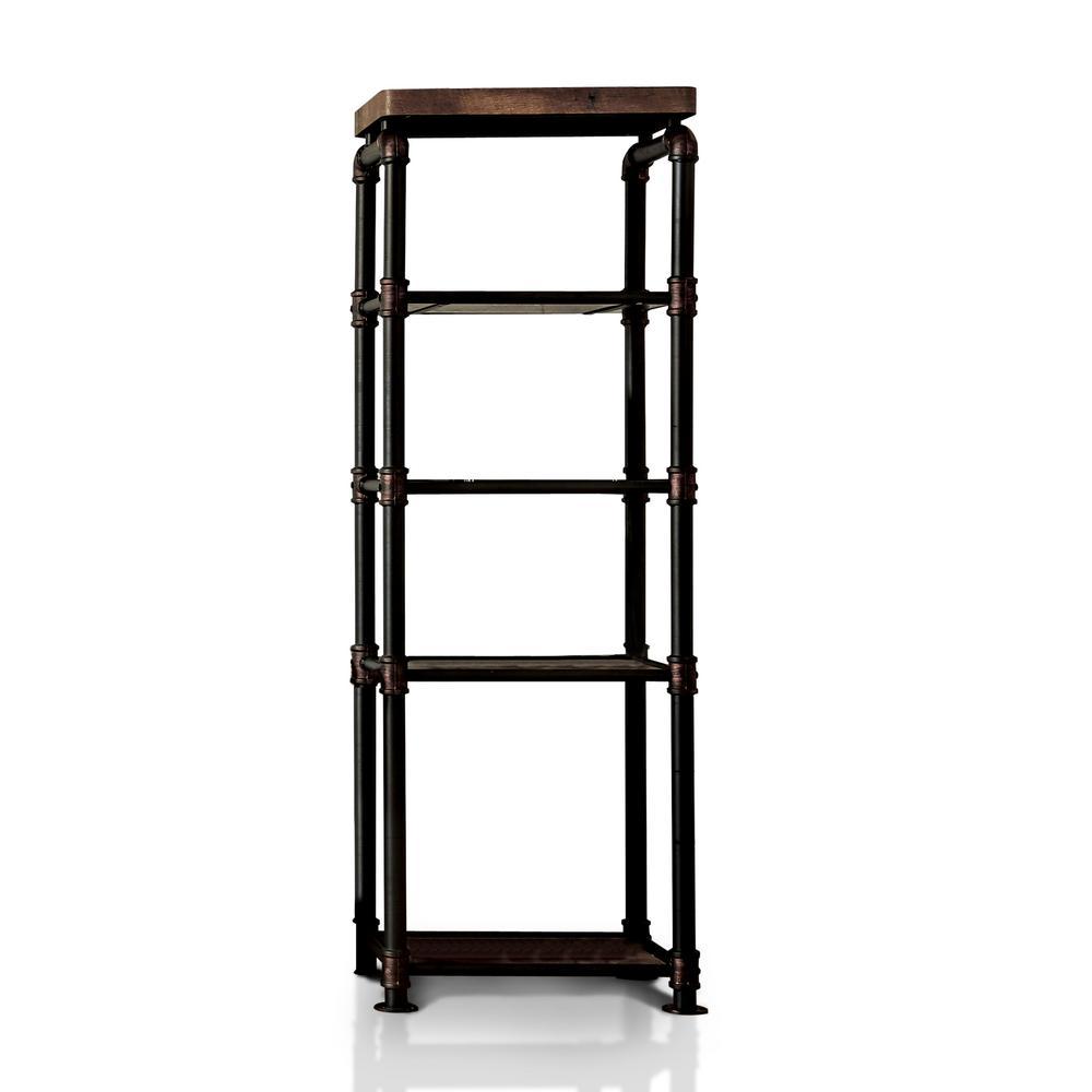 Furniture Of America Rein Antique Black Pier Cabinet