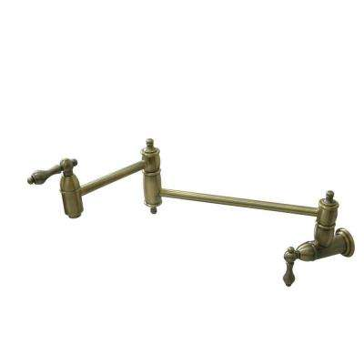 Wall-Mounted Potfiller in Vintage Brass