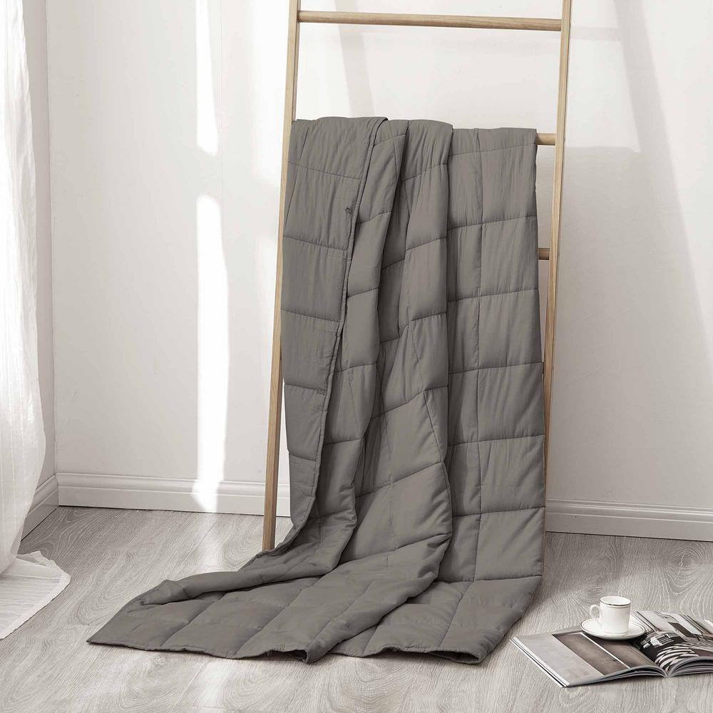 Sutton Home Fashions Charcoal 100% Cotton 15 lbs. Weighted Blanket