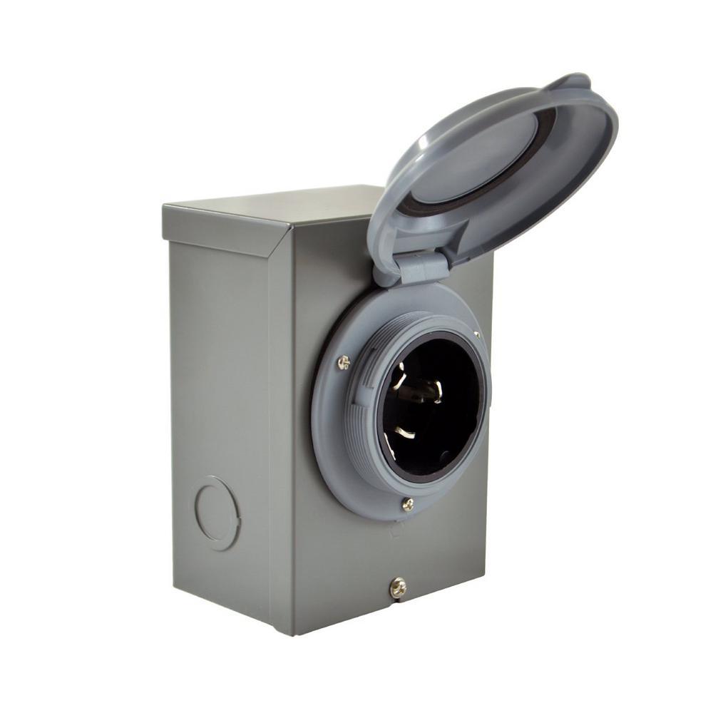 DIY Wiring Generator/Industrial/Temporary CS6375 50 Amp 125/250-Volt 4-Wires Locking Power Inlet Box