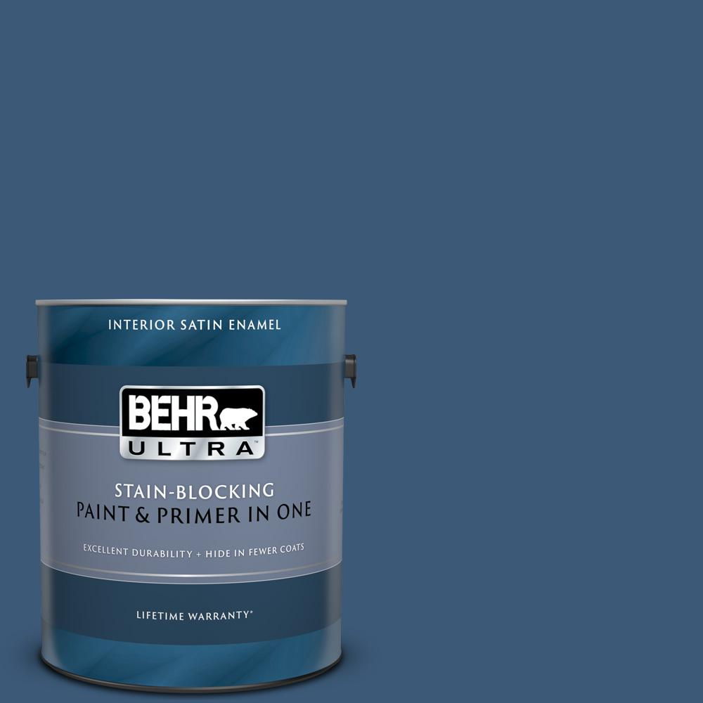 Behr Ultra 1 Gal Icc 85 China Pattern Satin Enamel Interior Paint And Primer In One 775301 The Home Depot
