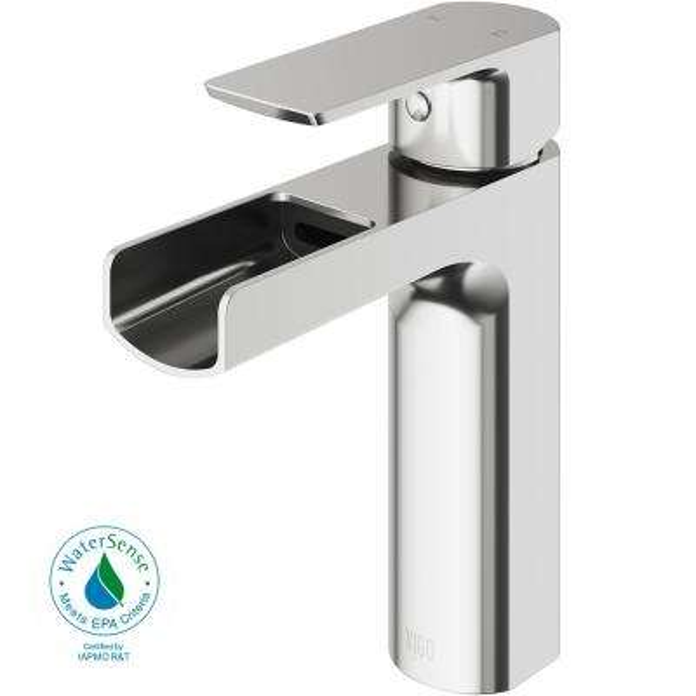 Ileana Single Hole Single-Handle Bathroom Faucet in Brushed Nickel