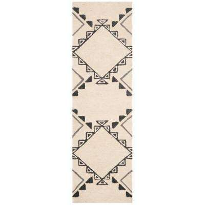 Casablanca Ivory/Gray 2 ft. x 8 ft. Runner