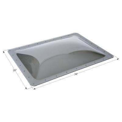Standard RV 14 in. x 22 in. x 4 in. Skylight