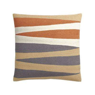 20 in. x 20 in. Neutral Helix Embroidered Pillow Cover