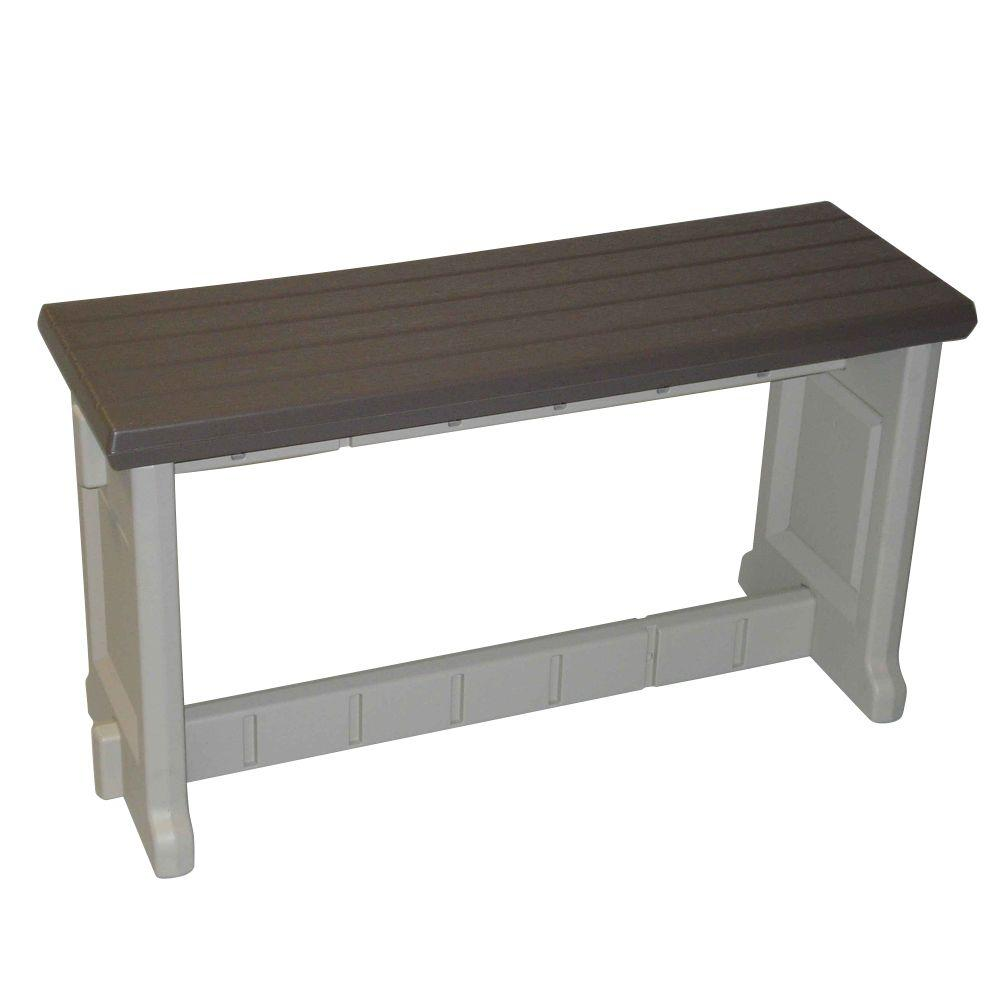 Leisure Accents 36 in. Portabello Resin Patio Bench