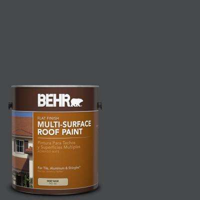 1 gal. #RP-32 Black Slate Flat Multi-Surface Roof Paint