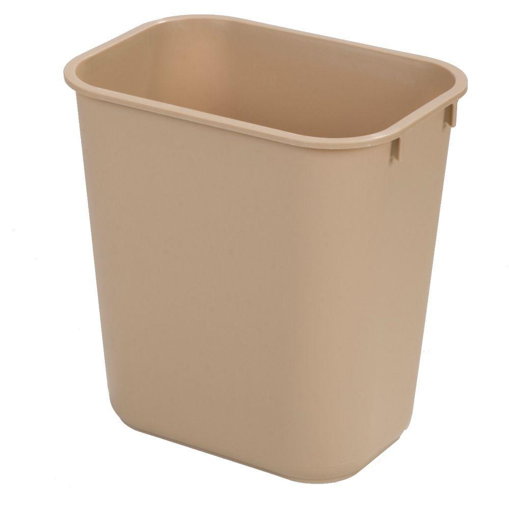 7 Gal. Beige Trash Can (12-Pack)