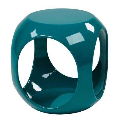 Slick Cube Blue End Table